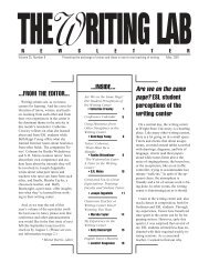 25.9 - The Writing Lab Newsletter