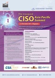 Asia Pacific Summit - MIS Training - Asia