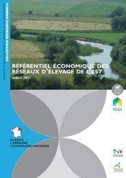 référentiel économique des réseaux d'élevage de l'est - Chambre d ...