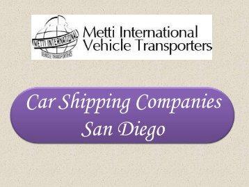 Car Shipping Companies San Diego