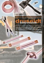 Strombänder • lötfreie Verbindungstechnik ... - Druseidt Elektrotechnik