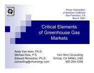 Critical Elements of Greenhouse Gas Markets - California Climate ...