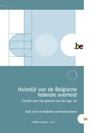 "Brochure Identit"" visuelle N - Fedweb - Belgium"