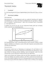 1. Thermische Analyse