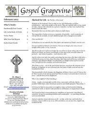 February 2012 Grapevine - St. Alban's Episcopal Church