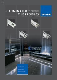 ILLUMINATED TILE PROFILES - LED