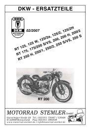 250 350 175 Gummitülle für Tachowelle für DKW RT 125