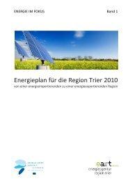 Energieplan Region Trier 2010 - Energieagentur Region Trier