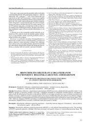bronchiolitis obliterans s organiziranom pneumonijom u bolesnika ...