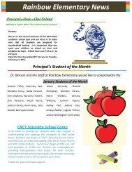 Rainbow Elementary News - DeKalb County Schools