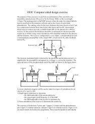 OEIC Computer aided design exercise