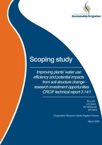 National Program for Sustainable Irrigation - Scoping ... - USQ ePrints