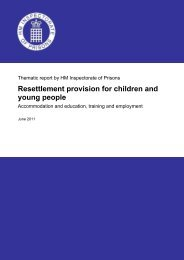 Resettlement provision for children and young ... - Ministry of Justice