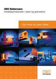 Installasjonskanaler i plast og grenstaver - OBO Bettermann