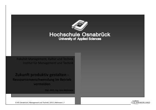 Download Vortrag zum Lean Management - Die Wirtschaft im ...