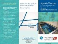 Download Aquatic Therapy Brochure - United Memorial Medical ...
