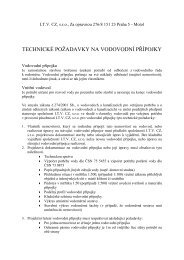 o Technické požadavky na vodovodní přípojky ve ... - Mnichovice