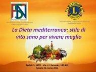 La Dieta mediterranea: stile di vita sano per vivere meglio