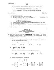 51 Business Mathematics and Statistics - The Association of ...