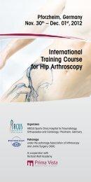 International Training Course for Hip arthroscopy - Endoscopy ...