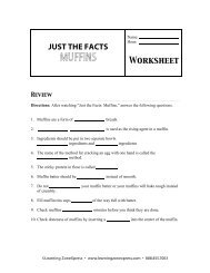 JUST THE FACTS MUFFINS Worksheet - Learning Zone Express