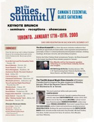 Flyer - Toronto Blues Society