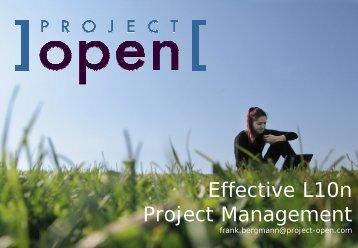 Effective L10n Project Management - Project Open