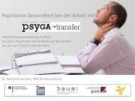Psychische Gesundheit bei der Arbeit mit PsyGA (PDF: 1.418 KB)