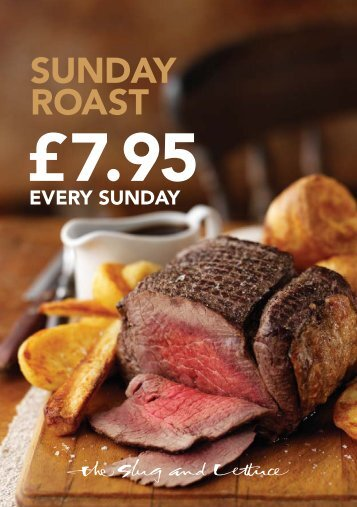 Sunday Roast menu - Things to do in Nottinghamshire