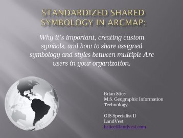 Standardized Shared Symbology in ArcMap - Amherst Maps ...