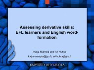 Assessing lexical awareness: EFL learners and English word ... - ealta