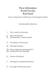1. Press information about RayGuard click here - RayGuard Human ...
