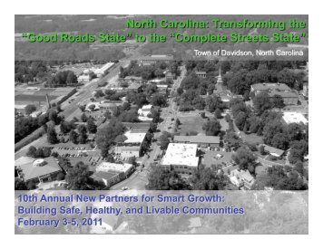 Complete Streets – Davidson, NC - New Partners for Smart Growth ...