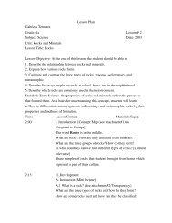 Lesson Plan Gabriela Temores Grade: 4th Lesson # 2 Subject ...