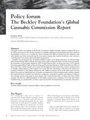 Policy forum The Beckley Foundation's Global Cannabis ... - Emerald