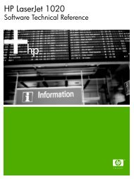 HP LaserJet 1020 Software Technical Reference - External