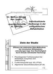 Individualisierte Nachsorge in der orthopädischen Rehabilitation Dr ...