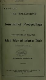 Journal of Proceedings - Dumfriesshire & Galloway Natural History ...