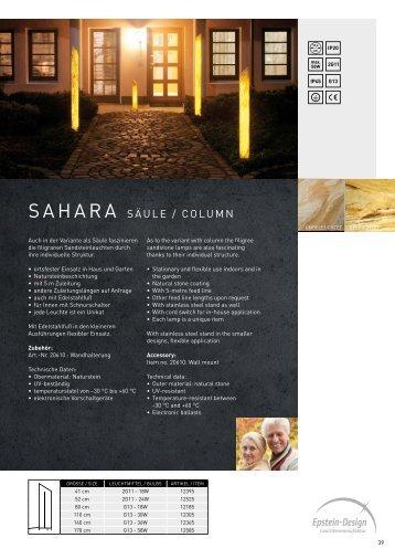 Sahara Säule / column  - Epstein-Design Leuchtenmanufaktur