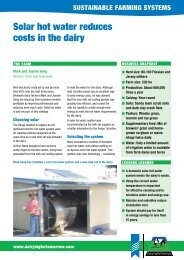 solar hot water reduces costs in the dairy - Dairy Sustainability Website