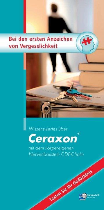 Zum Download Patientenbroschüre Ceraxon - Trommsdorff GmbH ...
