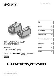 """Handycam""手冊HDR-CX550E/CX550VE/ XR550E ... - Sony Style"