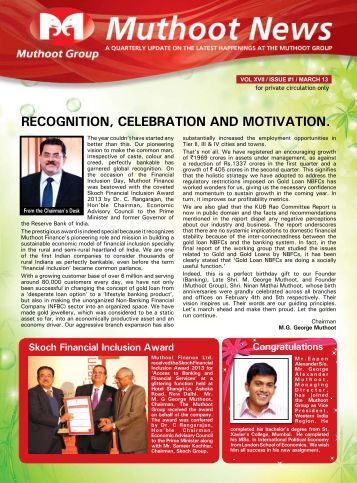 March Issue Newsletter - Muthoot Group