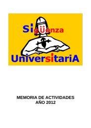 Memoria 2012 - Proyecto Webs