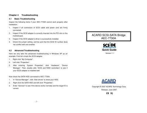 ACARD AEC-6710S DRIVER UPDATE