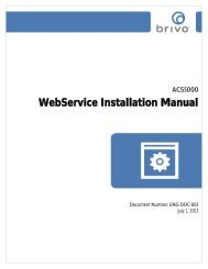 ACS5000-E/W Installation Manual - Brivo Systems