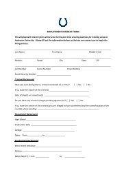 Employment Interest Form [PDF] - Anderson University