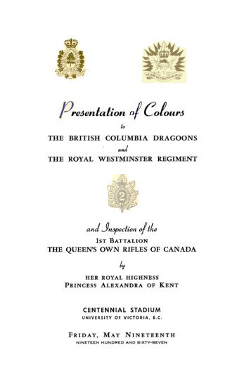 brochure - The Royal Westminster Regiment