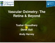 Vascular Oximetry: The Retina & Beyond - SUPA