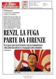 RENZI, LA FUGAPARTE DA FIRENZE - Comune di Firenze